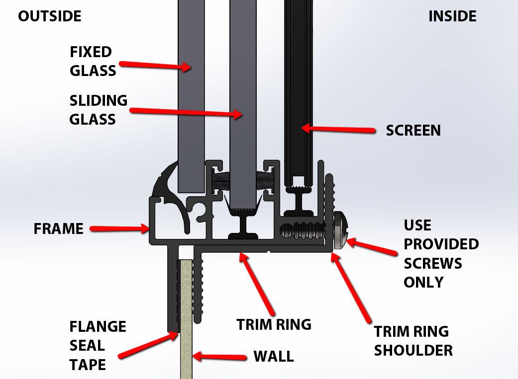 sprinter van conversion windows motionwindows com cross section view of typical installation