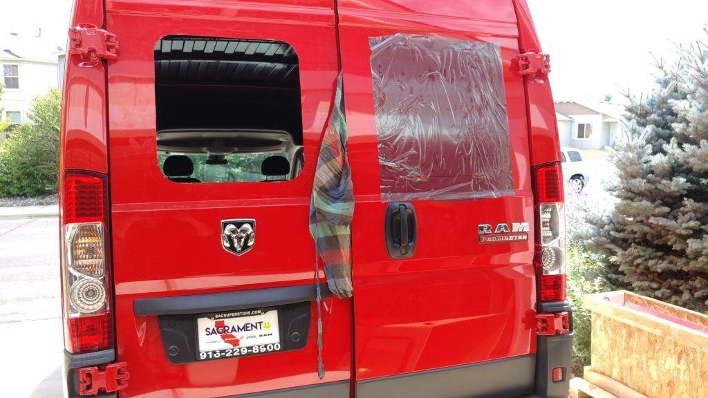 van window installing
