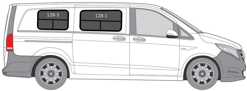 Mercedes Metris van conversion windows
