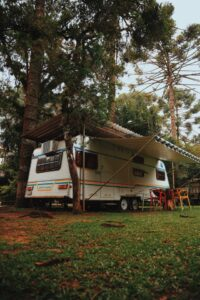 camper cleaning awning